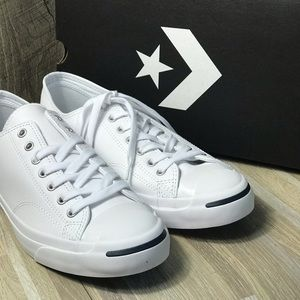 Converse Jack Purcell LEA Leather LowTop WhiteNavy